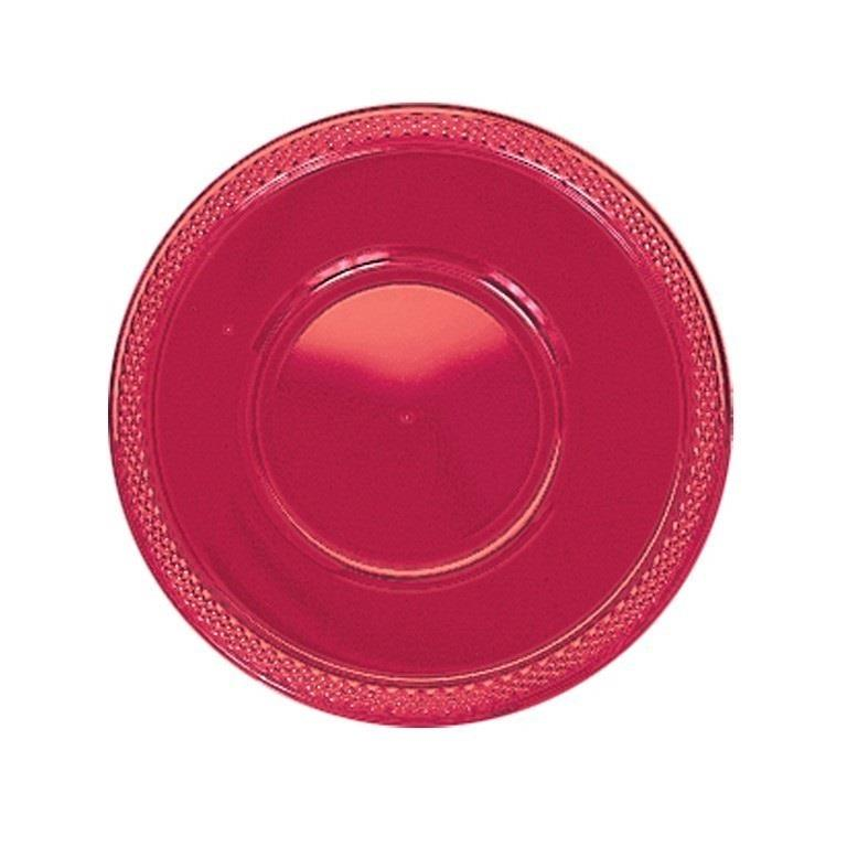 Red Plastic 18cm Party | Dessert Bowls