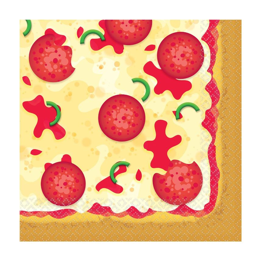 Pizza Party 33cm Napkins | Serviettes