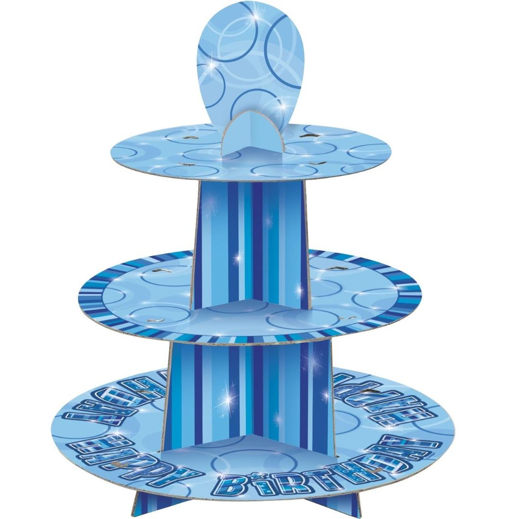 Blue Glitz Cupcake Stand | Decoration