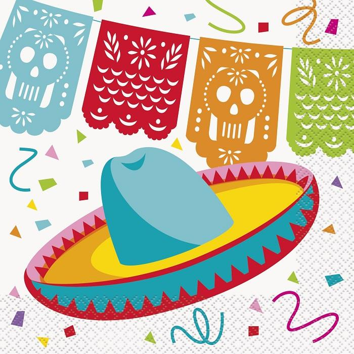 Mexican Fiesta Party Napkins | Serviettes