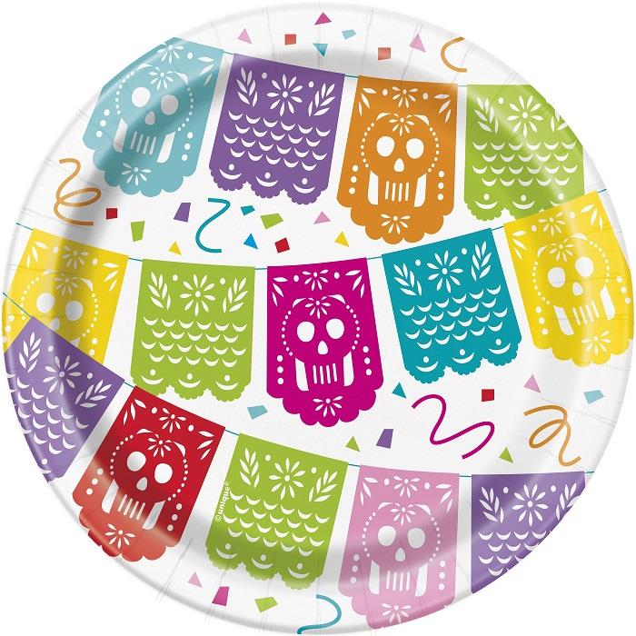 Mexican Fiesta Party Cake Plates