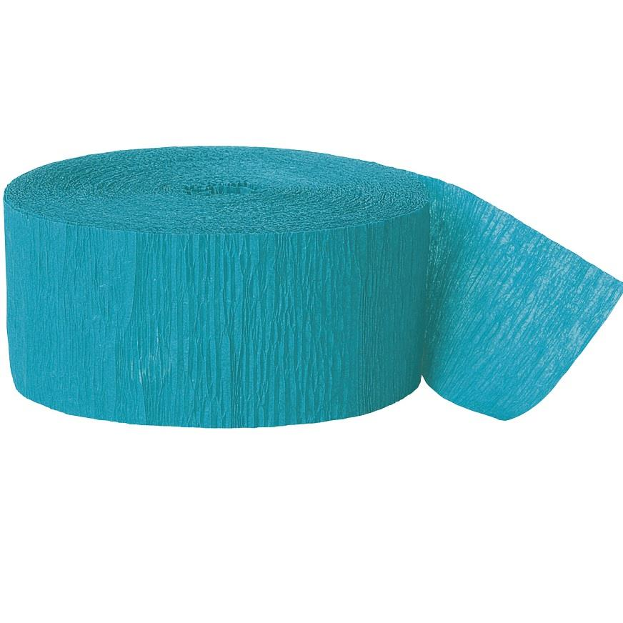 Teal Blue Crepe Party Streamer Decoration