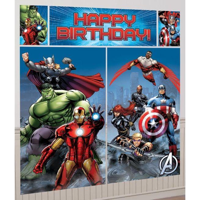 Marvel Avengers Giant Scene Setter Party Decoration