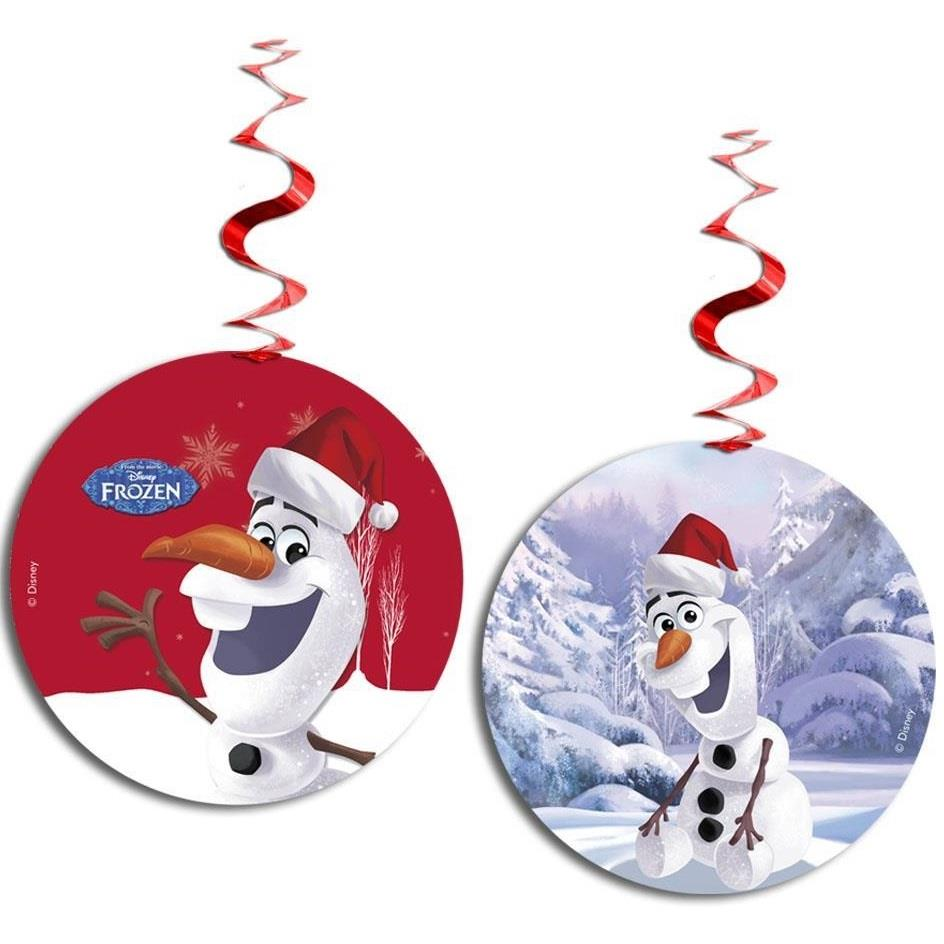 Olaf Christmas Party Hanging Swirl Decorations