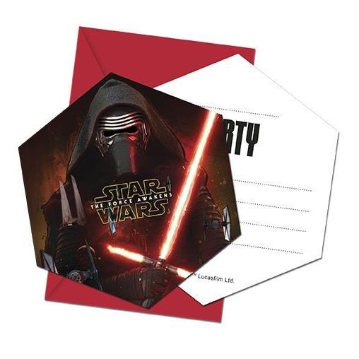 Star Wars Ep7 Party Invitations Invites