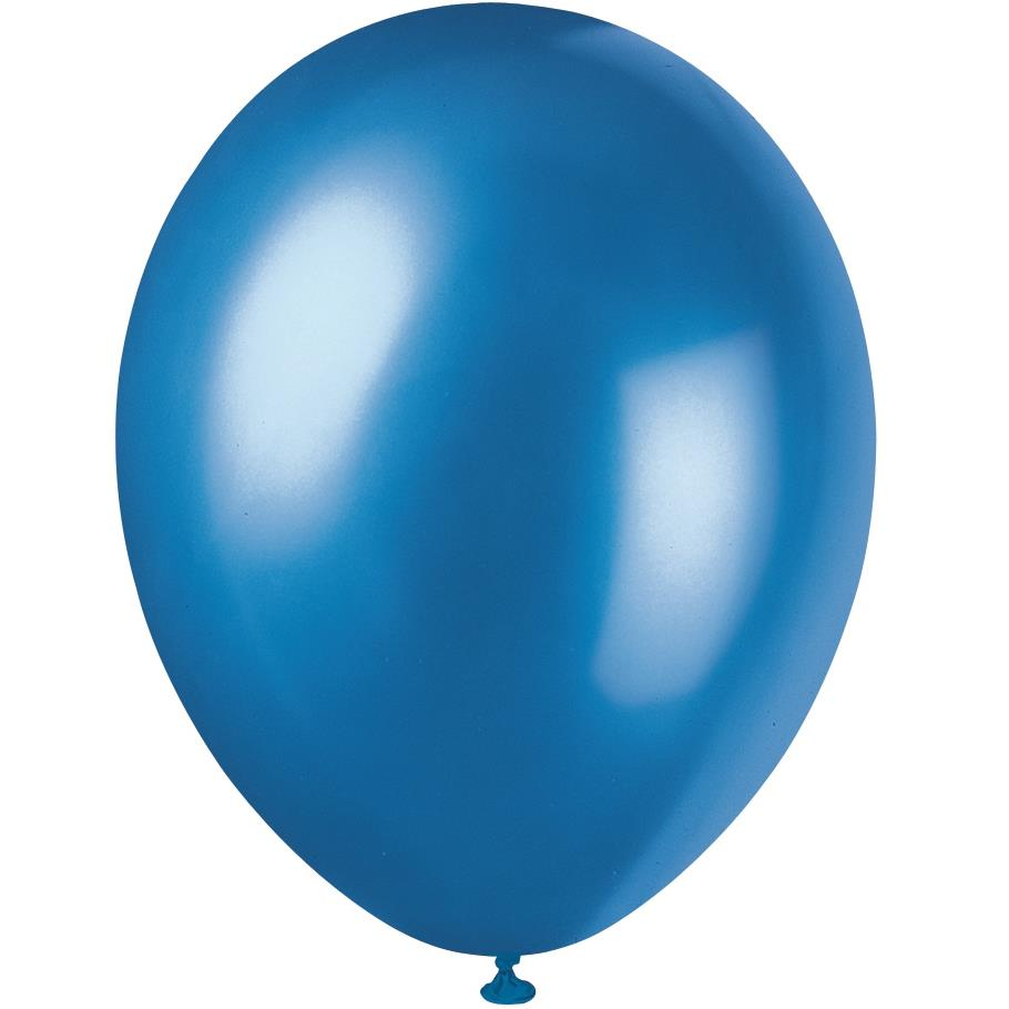 Cosmic Blue Pearl Party Latex Balloons