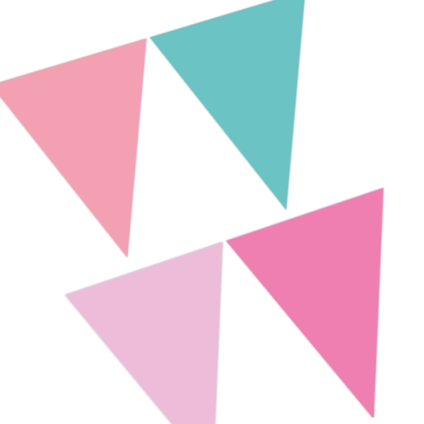 Pink and Green Party Flag Banner | Bunting