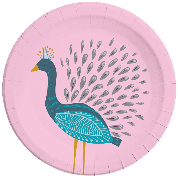 Peacock 23cm Party Plates