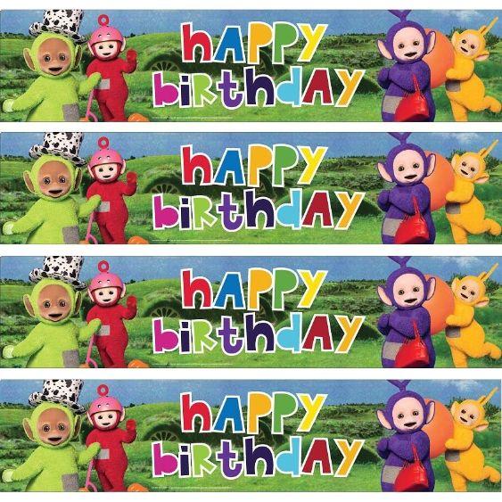 Teletubbies Happy Birthday Foil Banner