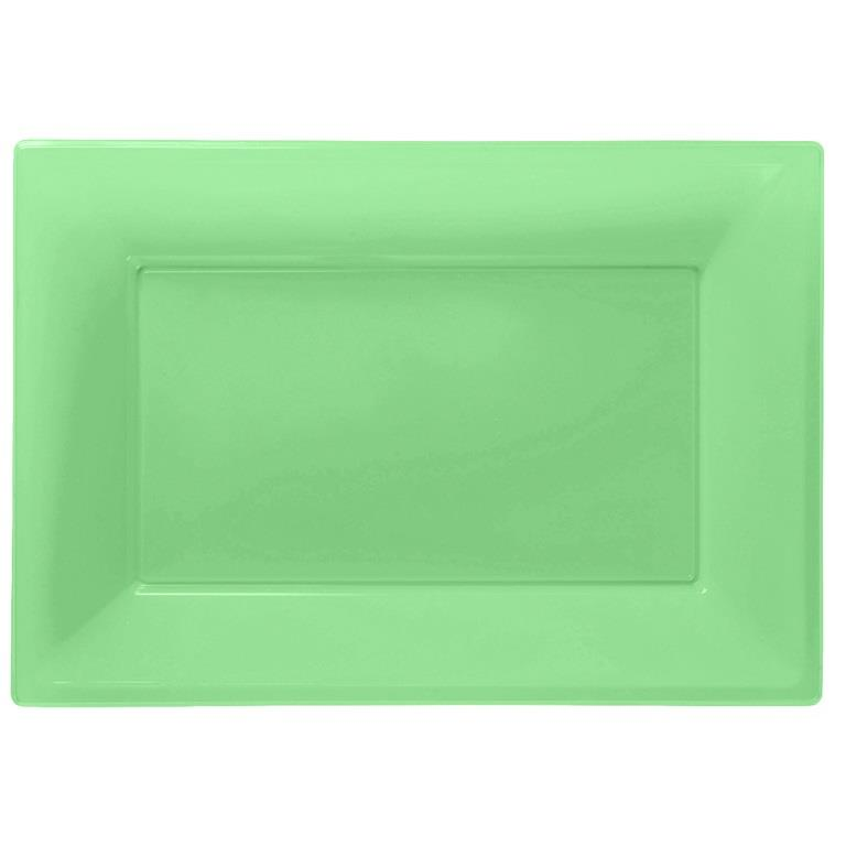 sc 1 st  Party Save Smile & Lime Green Plastic Party Serving Platter Plates