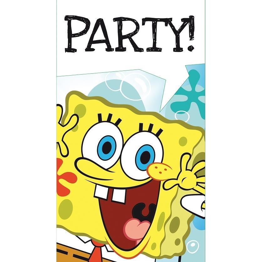 SpongeBob SquarePants Party Invitations Invites