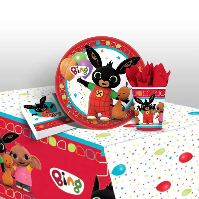Napkins Plates Cups Tablecover Bing Birthday Party Decorations And Tableware