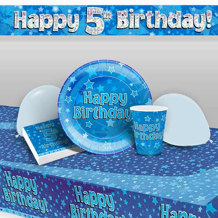 Blue Star Happy 5th Birthday 8 To 48 Guest Premium Party Pack