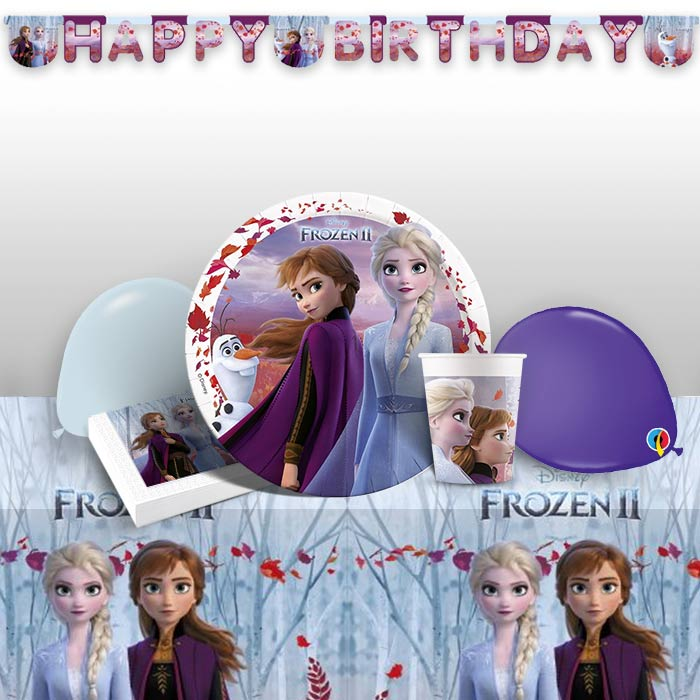 Disney Frozen 2 Premium Party Pack Tableware | Banner | Balloons