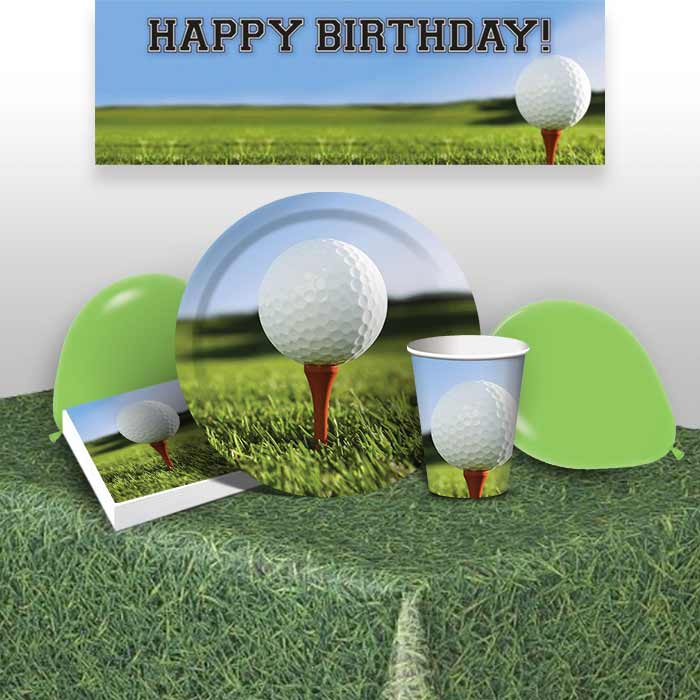 Golf 8 to 48 Guest Premium Party Pack - Tableware | Balloons | Decoration