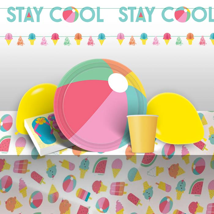 187e4ec6ed05 Just Chillin 8 to 48 Guest Premium Party Pack - Tableware