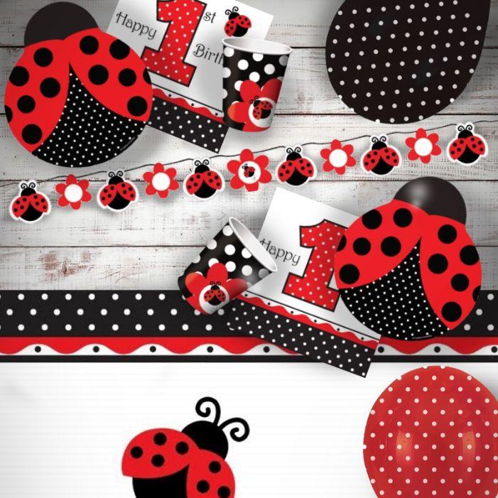 Ladybird 1st Birthday Party Supplies