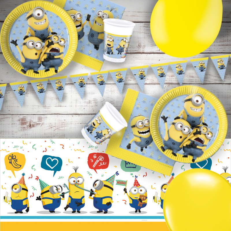Lovely Minions 8 To 48 Guest Premium Party Pack