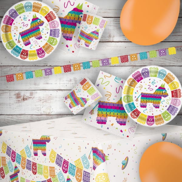 Mexican Fiesta 8 to 48 Guest Premium Party Pack - Tableware | Balloons | Decoration