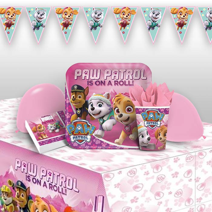 Paw Patrol Pink 8 To 48 Guest Premium Party Pack