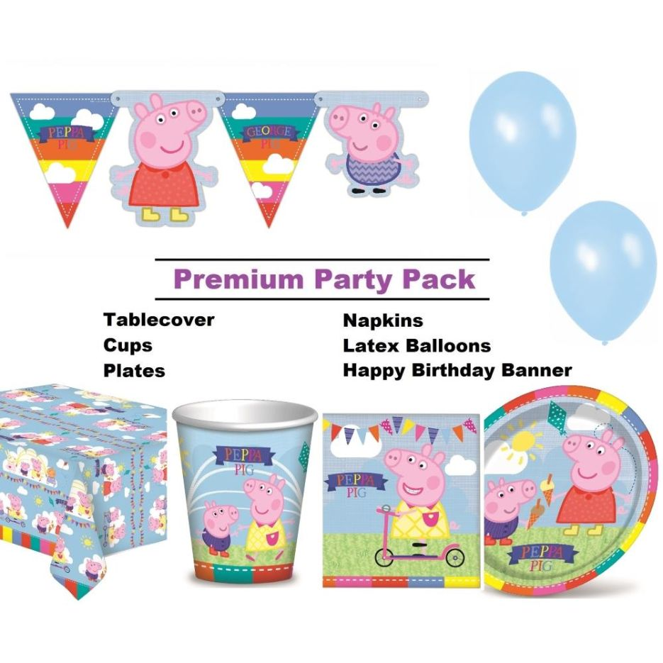 Peppa Pig Party Supplies Balloons Decorations Packs