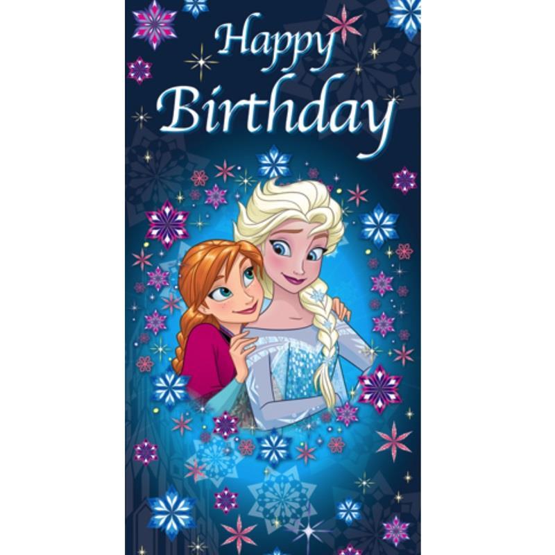 disney frozen happy birthday greeting card
