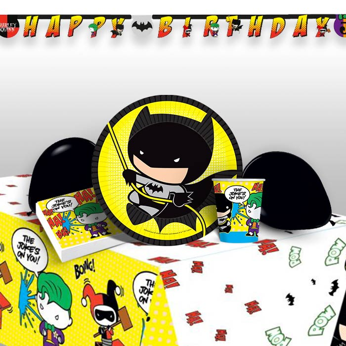Batman vs Joker 8 to 48 Guest Premium Party Pack - Tableware | Balloons | Decoration