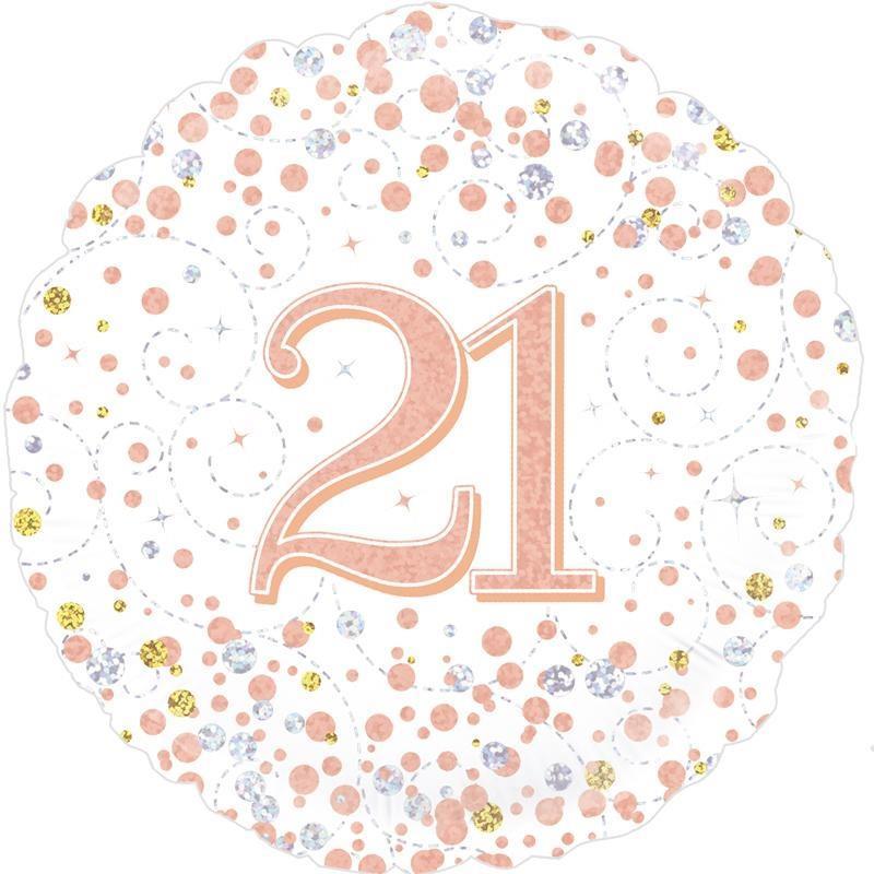 Rose Gold Confetti 21st Birthday 18 Foil