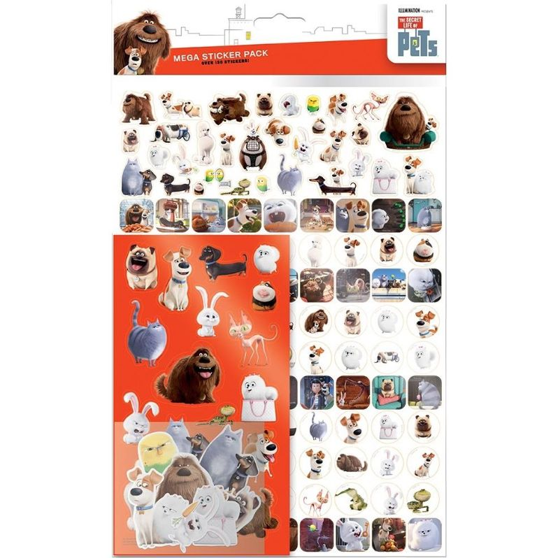 Secret Life of Pets Mega Sticker Pack 150 Stickers