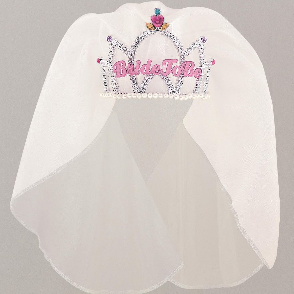 Hen Party Bride to Be Tiara with Veil