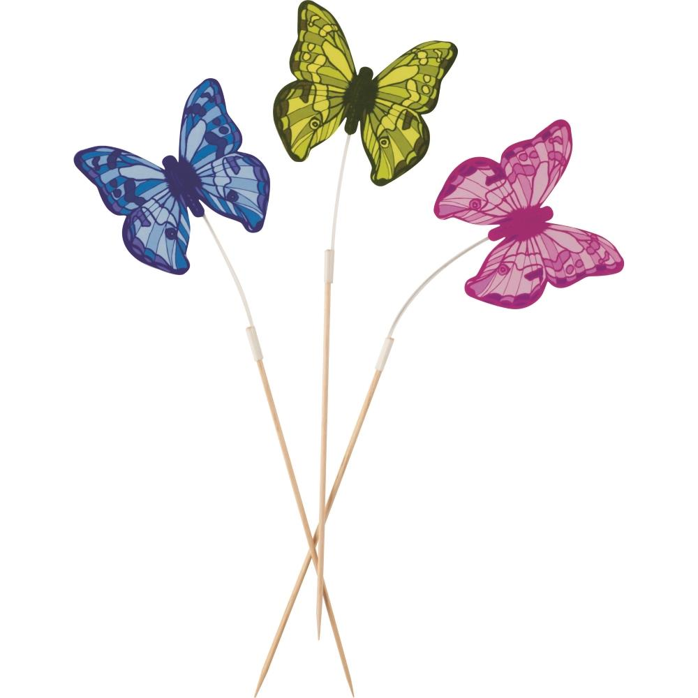 12 Butterfly Cocktail Stirrer Sticks