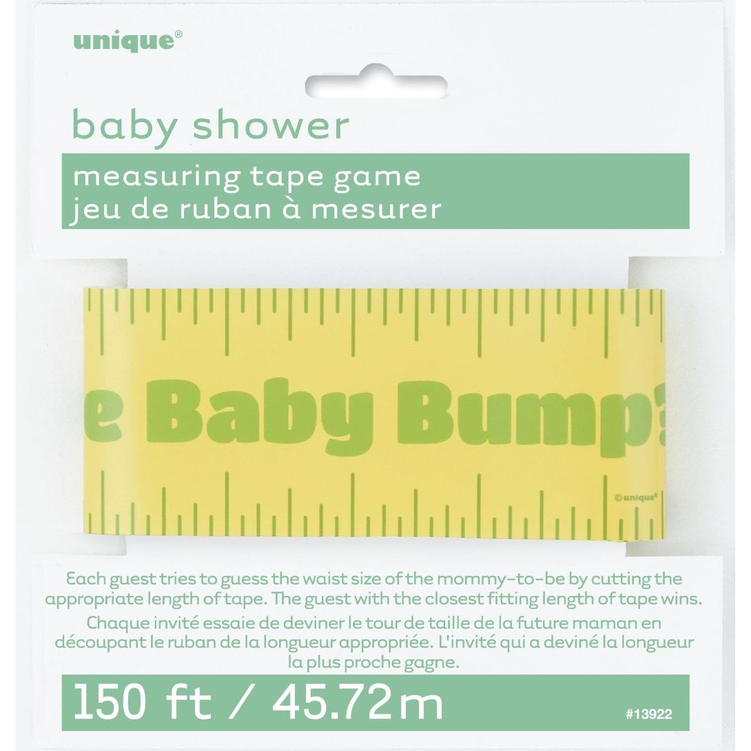 Baby Shower Measuring Tape Party Game