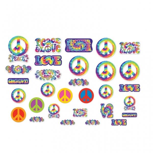 1960's Groovy Party Cutout Decoration Set