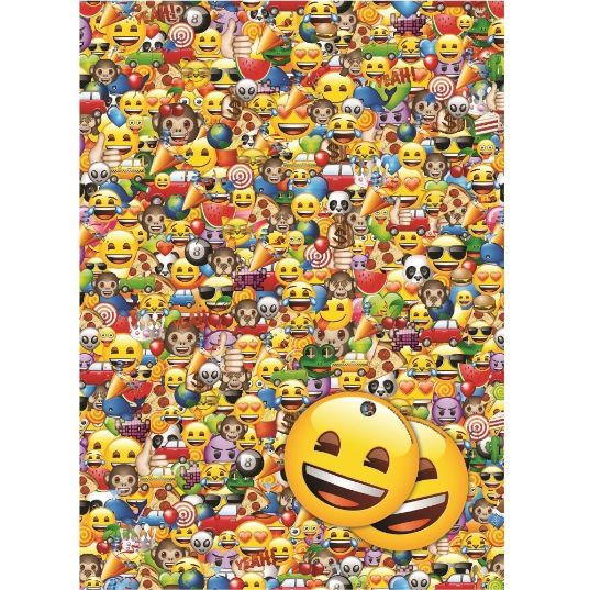 Emoji Gift Wrap -  2 Sheets, 2 Gift Tags