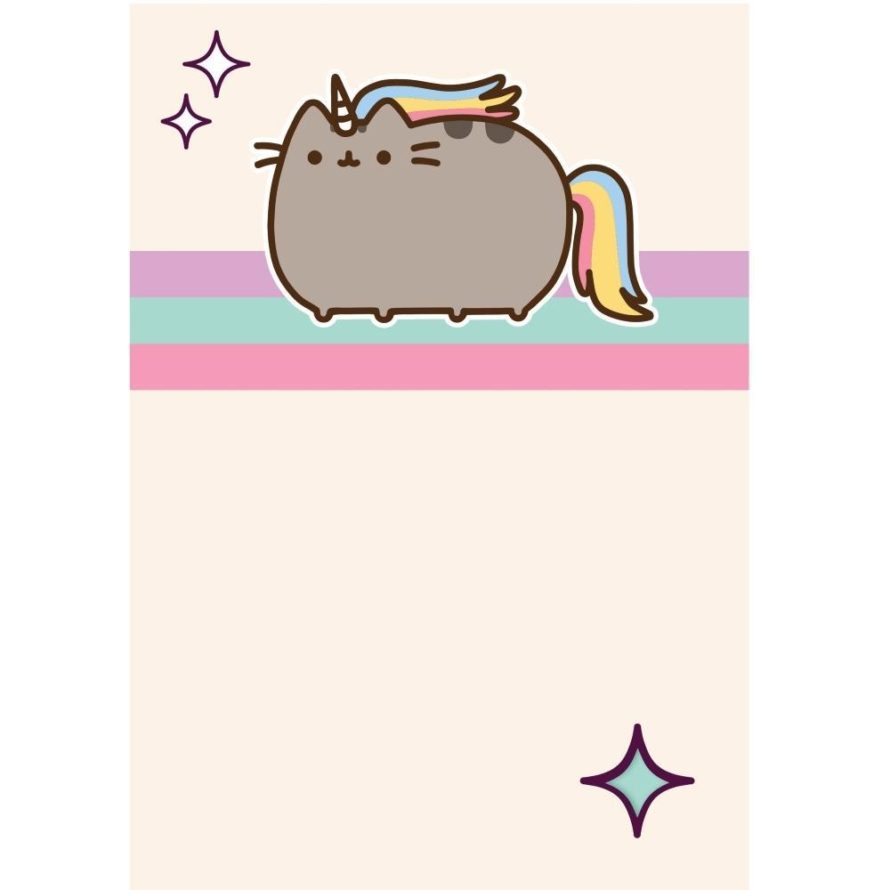 Pusheen Cat Unicorn Blank Greeting Card