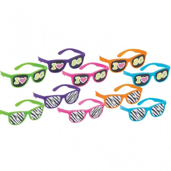 1980's Rad Party Glasses Party Favours