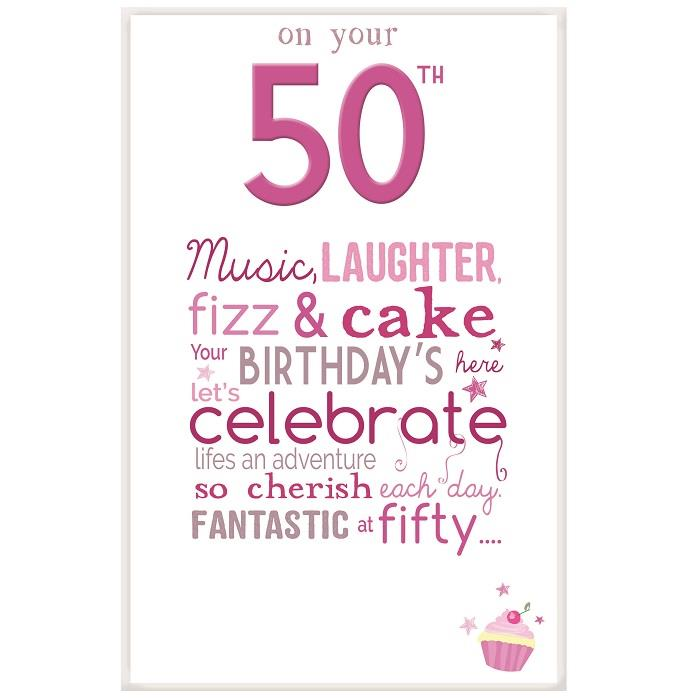 Little Thoughts 50th Birthday Female Greeting Card