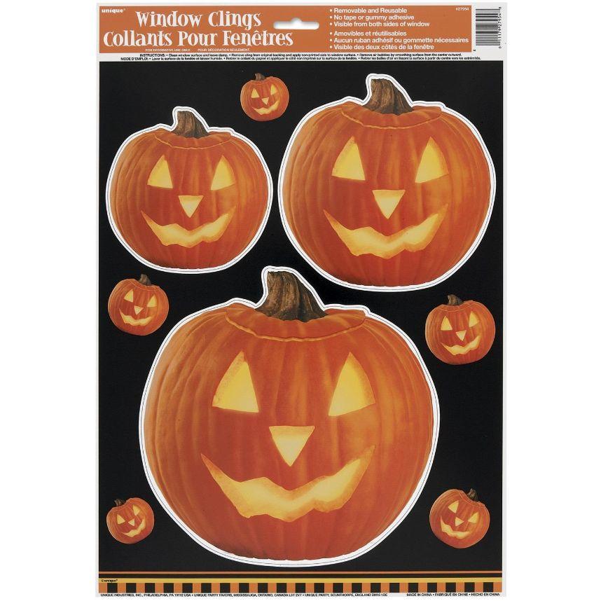 halloween pumpkin window clings stickers decorations