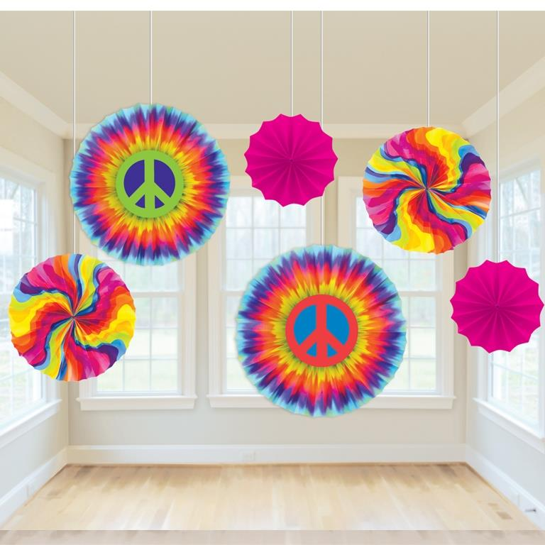 1960's Groovy Printed Fan Decorations
