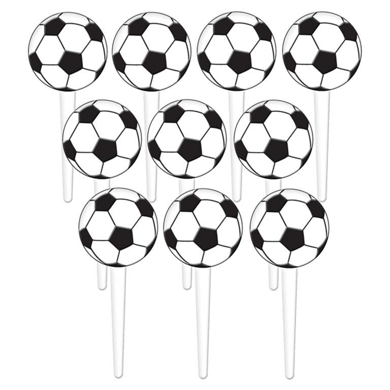 Championship Soccer | Football Party Cake Picks | Decorations