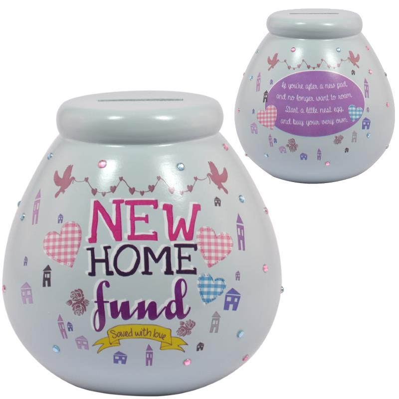 New Home Fund | Saved with Love Pot of Dreams | Money Box | Bank