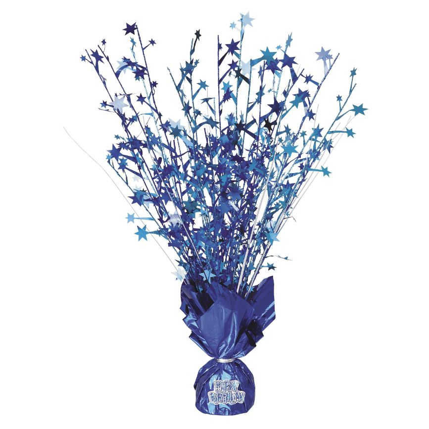 Blue Glitz Party Table Centrepiece with Stickers | Decorations
