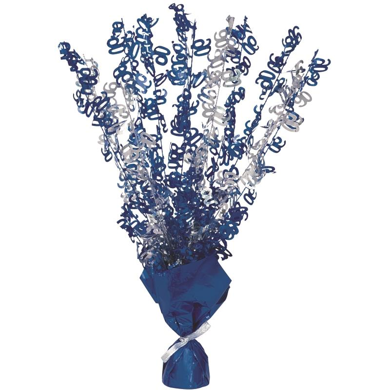 Blue Glitz 90th Birthday Party Table Centrepiece | Decoration