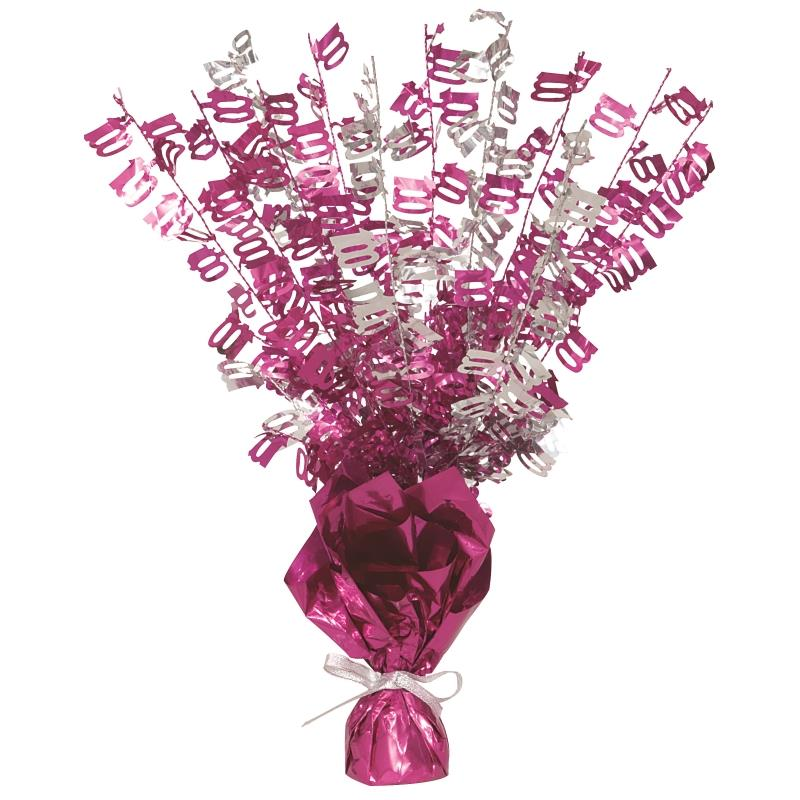 Pink Glitz 100th Birthday Party Table Centrepiece