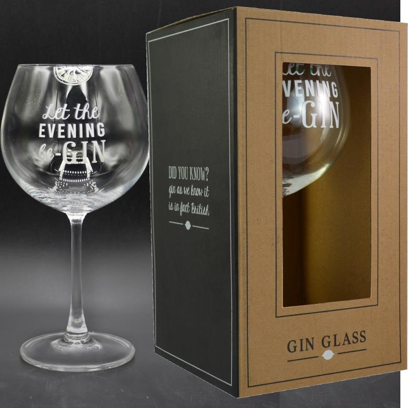 Let The Evening Be Gin Goblet Glass | Keepsake