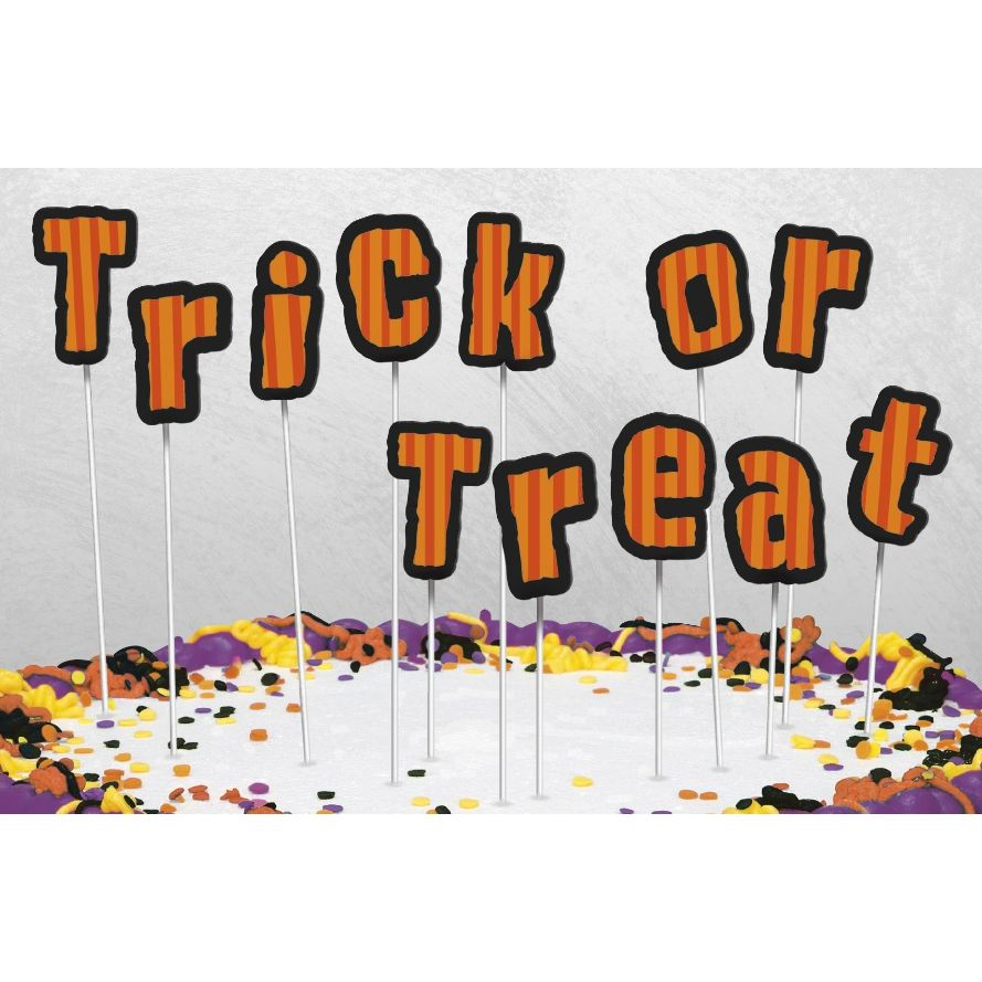 Trick or Treat Halloween Letter Cake Toppers | Decoration