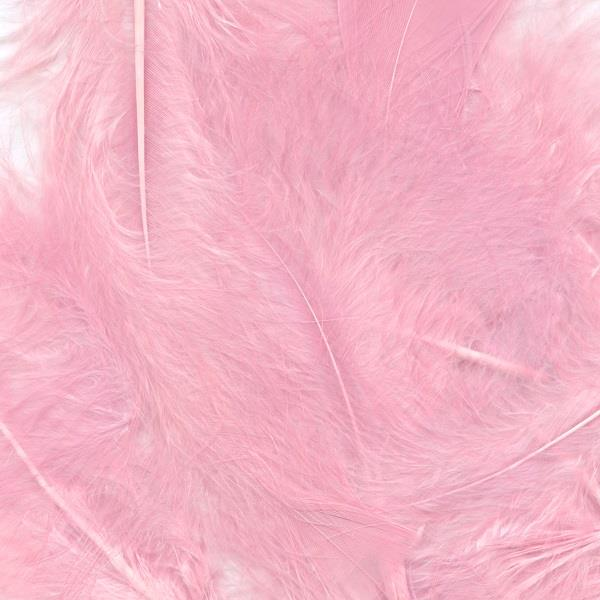 Baby Pink Eleganza Decorative Craft Marabout Feathers 8g