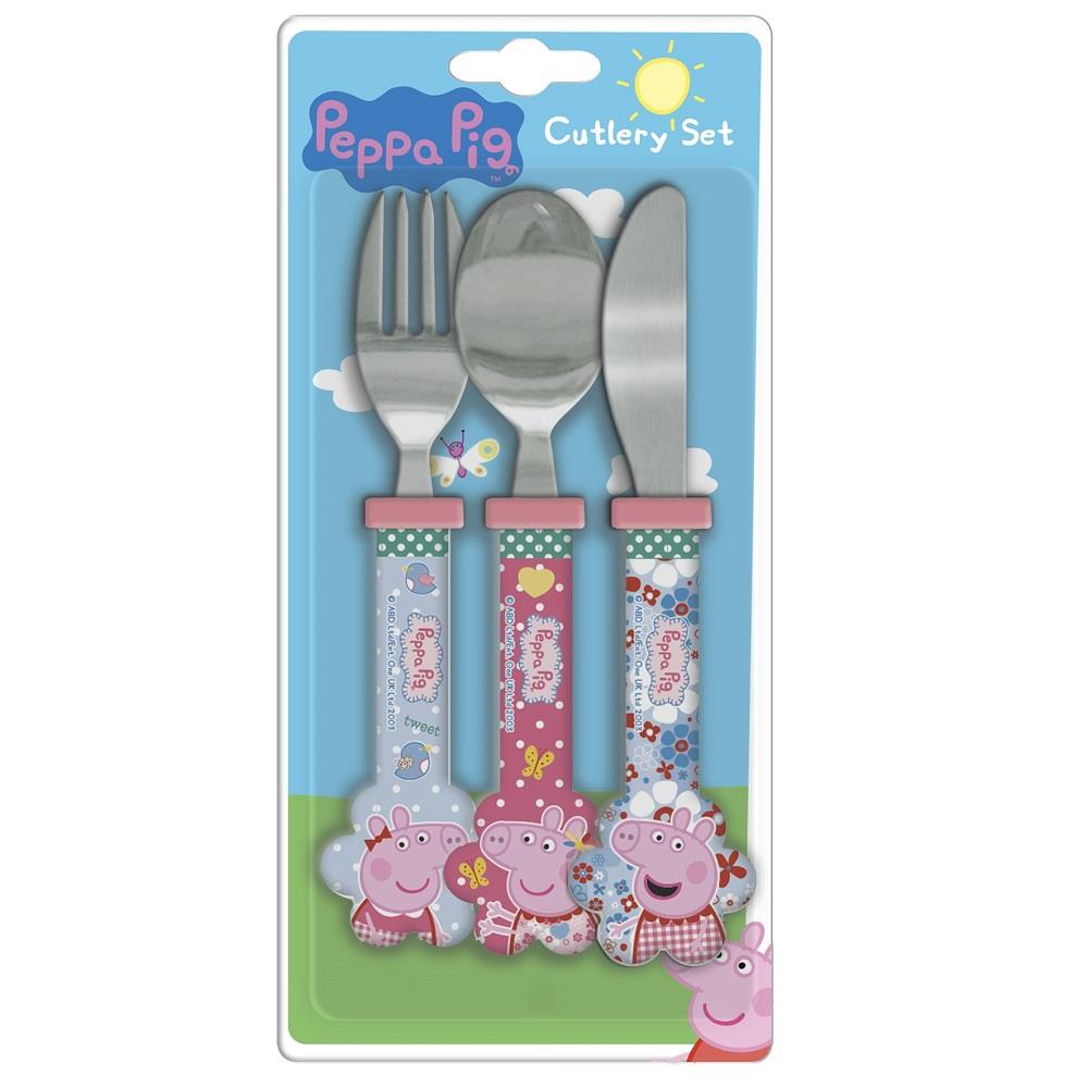 Peppa Pig HSH Cutlery | Knife | Fork | Spoon | Set