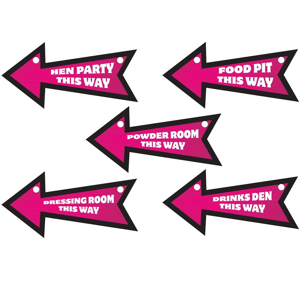 Hen Party Direction Signs