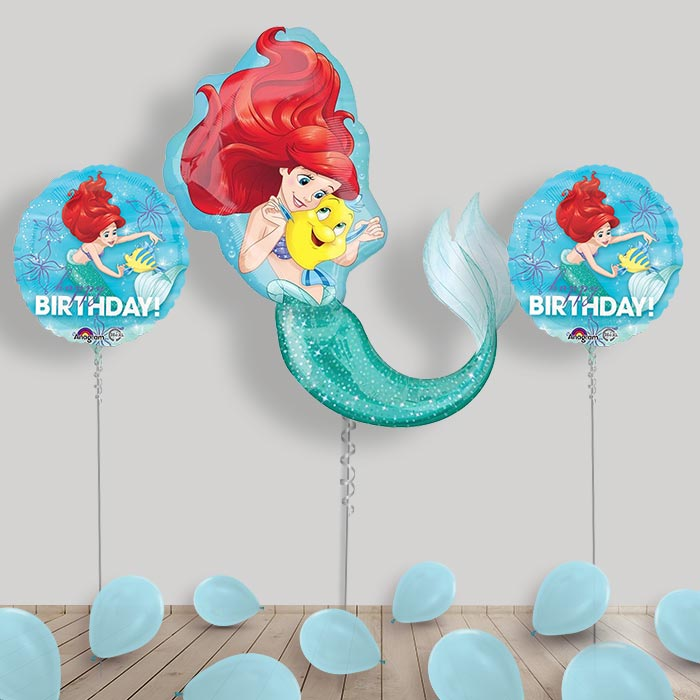 Inflated Disney Ariel the Little Mermaid Helium Balloon Package in a Box